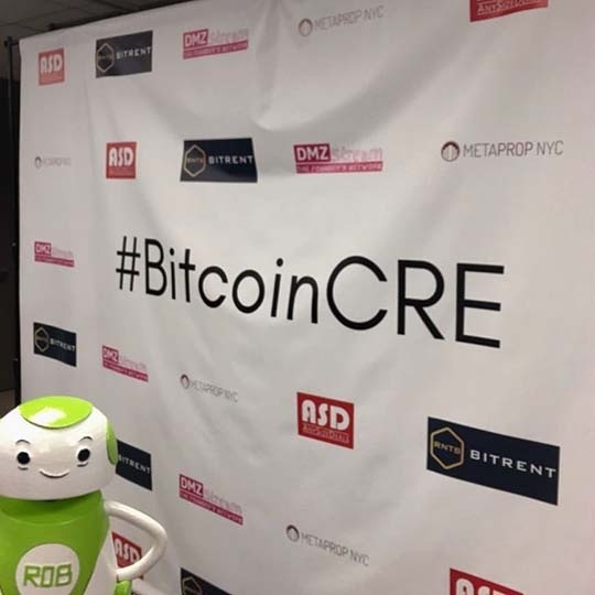 Rob Sparke - At the #BitcoinCRE event in New York. Looking forward to a great day. #whereisrobsparke