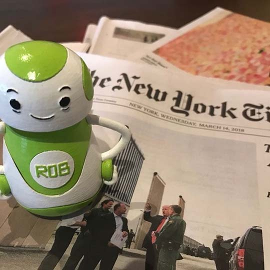 Rob Sparke - Throwing it back to yesterday's news in New York. #whereisrobsparke