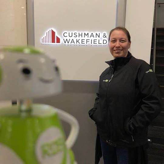 Rob Sparke - Meeting with our UK consultant, Michelle at Cushman & Wakefield. Exciting times ahead! #whereisrobsparke