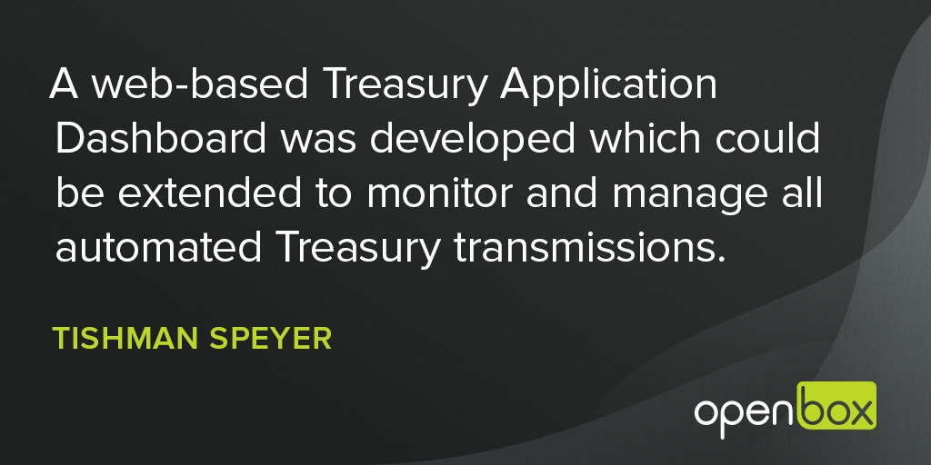 Case Study - Tishman - Treasury App.